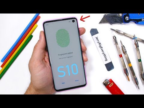 Galaxy S10 Durability Test - Ultrasonic Fingerprint Scratched?!