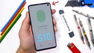 Download Galaxy S10 Durability Test - Ultrasonic Fingerprint Scratched?! Mp3 and Videos