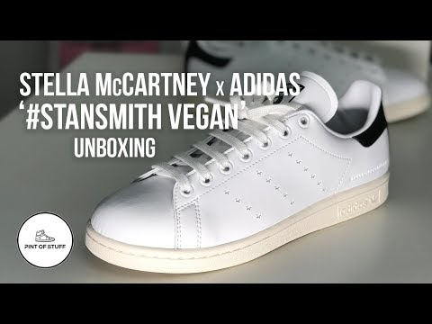 Stella McCartney x Adidas #stansmith Vegan Sneaker Unboxing with SJ