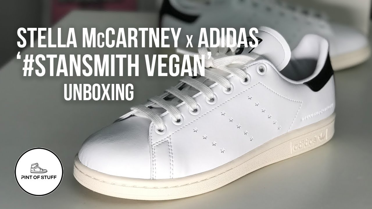Stella McCartney x Adidas  stansmith Vegan Sneaker Unboxing with SJ ... 9b922be6f