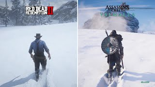 RDR 2 vs AC Valhalla - Comparison of Details! Which is Best?