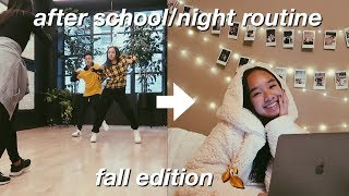 afterschool/night routine! fall edition 🍂| Nicole Laeno