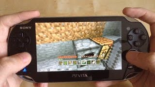 Minecraft Playstation Vita Edition Gameplay