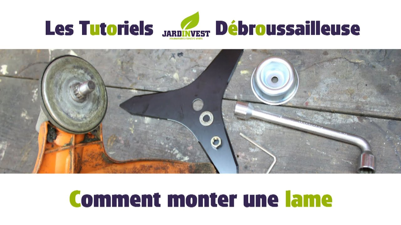 debroussailleuse changer lame