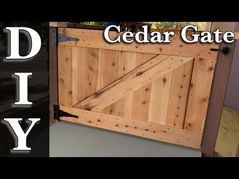 DIY Outdoor Dog Gate / How to build a gate