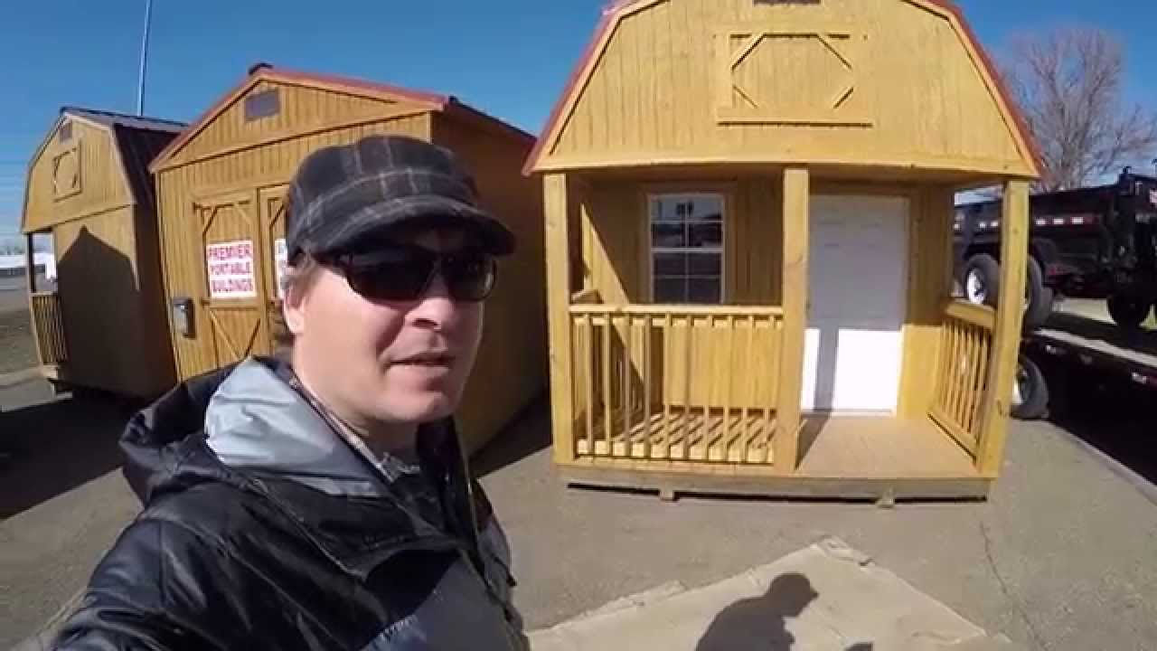 Tiny House Idea Cheap Portable shed YouTube