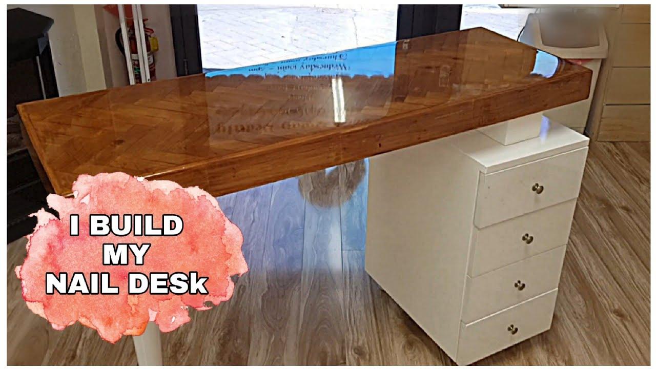 Building My Nail Desk  Salon Life  Black Swan Beauty