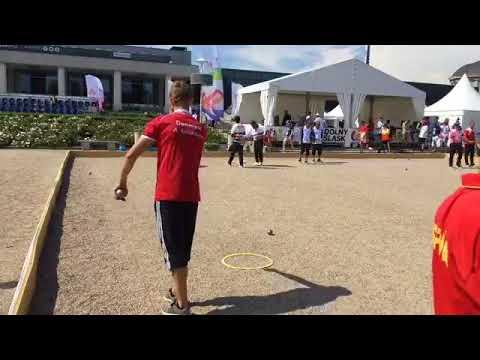 Danmark-Spanien petanque World Games 2017