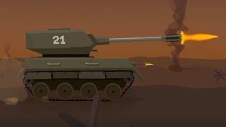 Мультфильм про машинки   - Танк - мультфильм для детей - военная техника