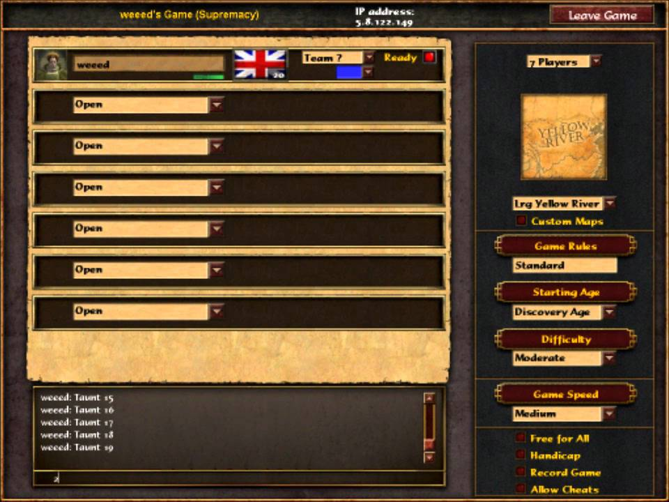 age of empires 3 asian dynasties cheats
