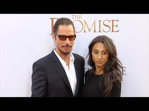 Chris Cornell and Vicky Karayiannis The Promise Premiere Red Carpet
