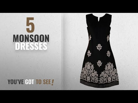 4ee34ca8bf Top 10 Monsoon Dresses [2018]: Monsoon New Ex Ladies Black Olive Green  Embroidered Cotton Tunic - YouTube
