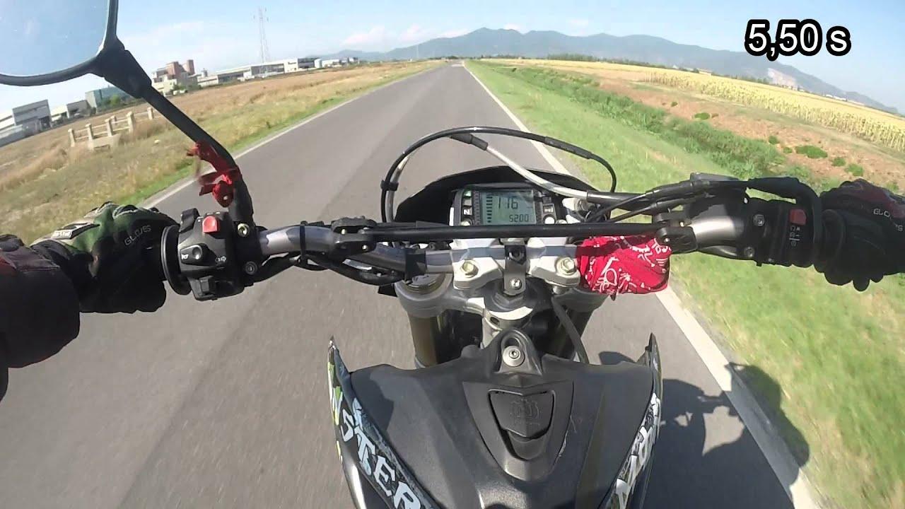 Husqvarna sm 610 2006 accelerazione 0-100 km/h - 0-60 mph ...