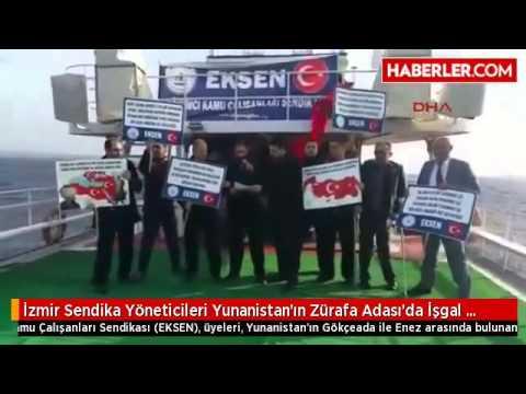 İzmir Sendika Yneticileri Yunanistanı protesto