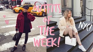 NEW YORK LOOKBOOK! | OUTFITS OF THE WEEK! | Sophia and Cinzia