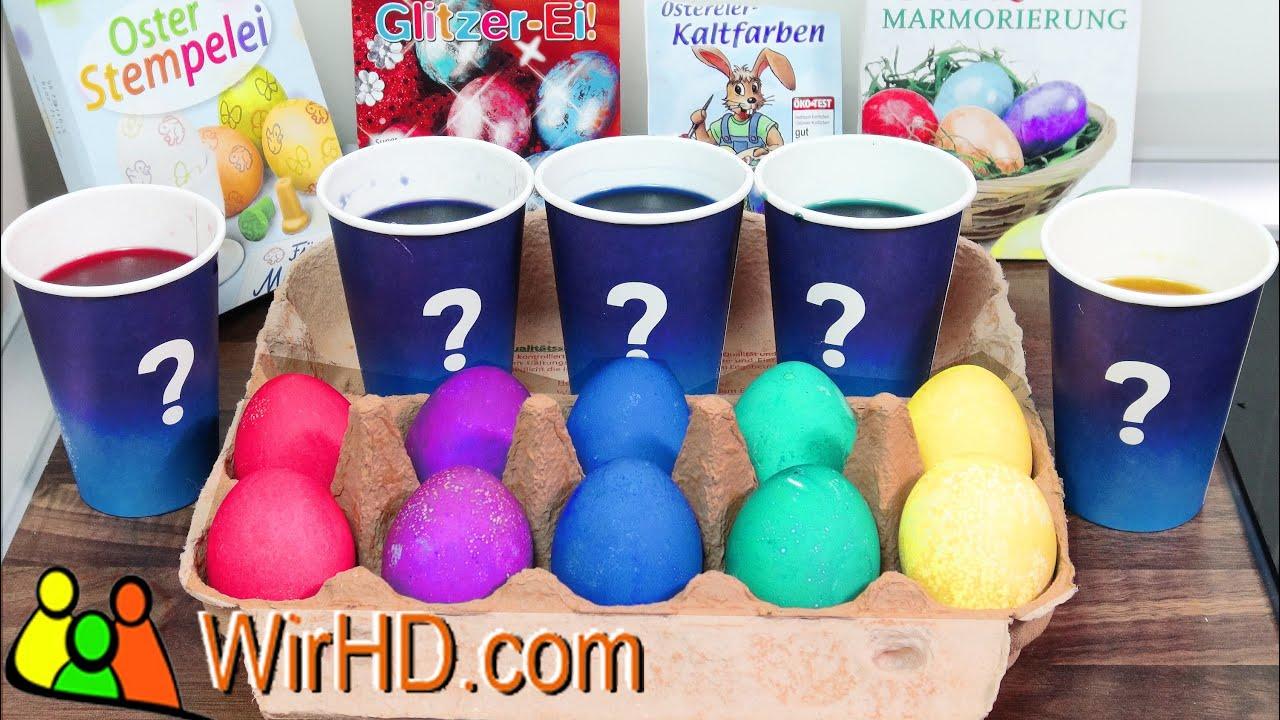 Eier Färben, Ostereier Kaltfarbe, Coloring Easter Eggs, Basteln zu ...