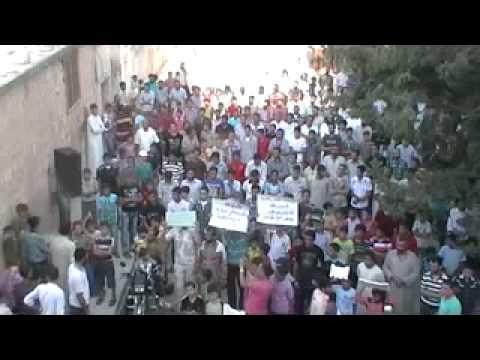 Сирия - демонстрация в городе Азаз 12.09.2012