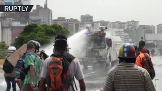 Violent rallies in Venezuela  Anti government protesters clash with police