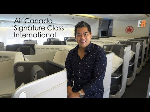 Air Canada's 787 Intl Signature Class Review - Fine Dining And BMW Valet Service