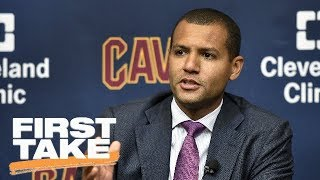 Cavaliers reportedly taking calls on Nets pick acquired in Kyrie Irving trade | First Take | ESPN