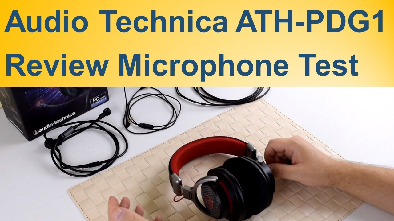 112d9270733 Audio Technica ATH-PDG1 Review Microphone Test - YouTube