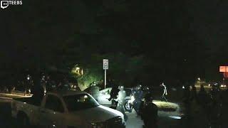 Portland police smash window, slash tires of woman's Prius during protest
