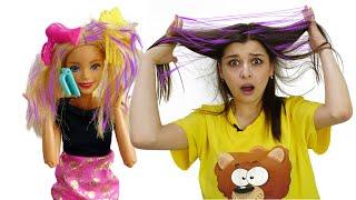 Салон красоты Барби видео для девочек Смешные истории куклы Barbie