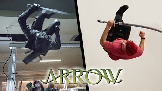 Stunts From Arrow In Real Life (Parkour, DC Comics)