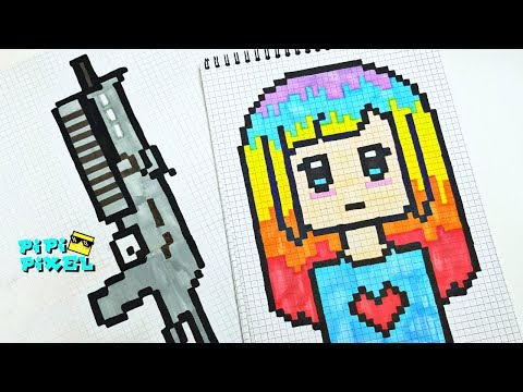Мои Большие  Рисунки по Клеточкам  формата А4  !!! ƈ�的像素艺术  PIXEL ART ! ПИКСЕЛЬ АРТ !
