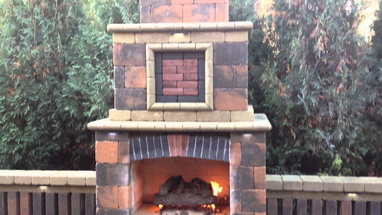 grosse pointe michigan outdoor fireplace u0026 grill area youtube