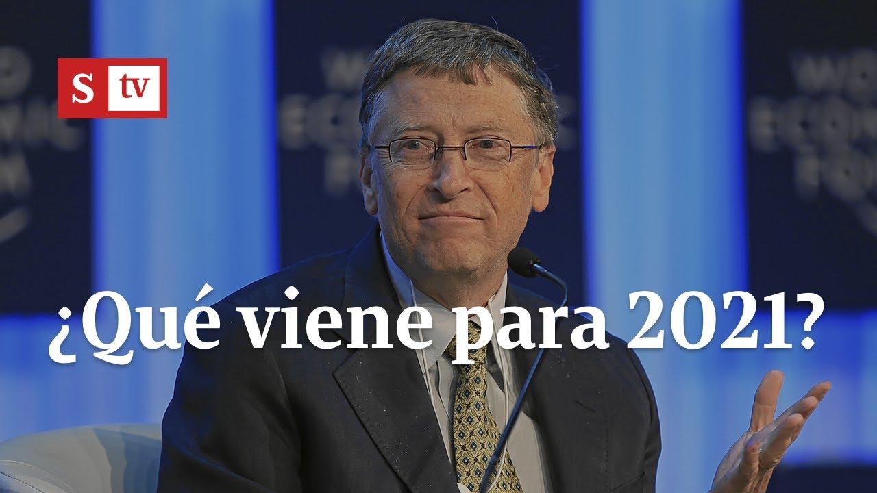 ¿Qué viene para 2021? Bill Gates da su pronóstico con dos noticias buenas y una mala | Videos Semana