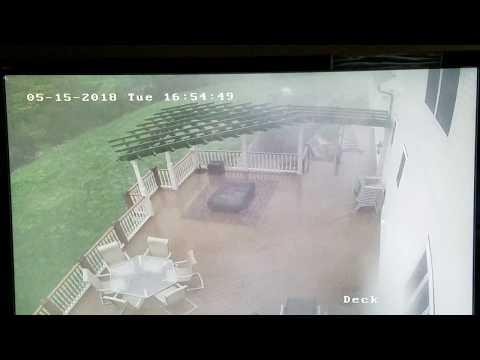 Tornado 051518 Deck CAM Southbury, CT