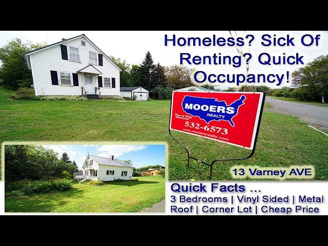 Low Cost Homes In Maine | Lucky 13 Varney Ave Houlton ME MOOERS REALTY #8875