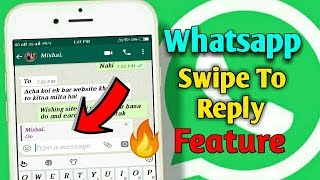 Whatsapp Swipe To Reply Feature For Android | Whatsapp New Latest Feature | Aditya Knight