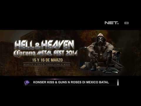 Entertainment News-Konser Kiss & Gun N Roses di Mexico batal Mp3
