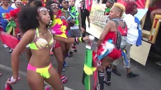 WILD TRINIDAD FLOAT TRUCK - TRINIDAD GIRLS DANCING WHINING WITH SOCA MUSIC AT BROOKLYN CARNIVAL 2016