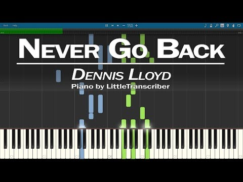 Dennis Lloyd - Never Go Back (Piano Cover) Synthesia Tutorial by LittleTranscriber thumbnail