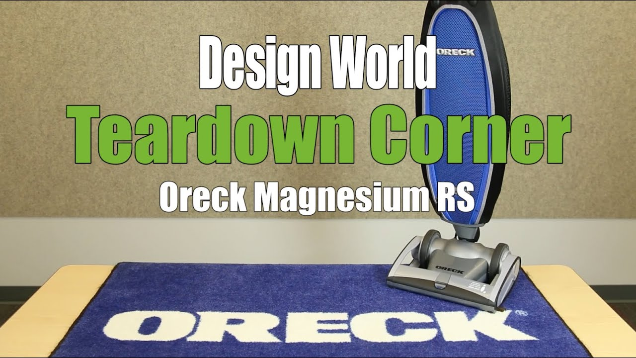 inside the lightweight vacuum oreck s magnesium rs teardown corner [ 1280 x 720 Pixel ]