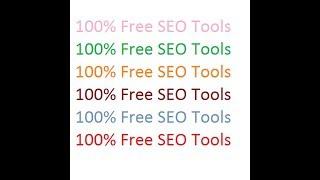 100% Free Seo Tols  (Small SEO Tools)
