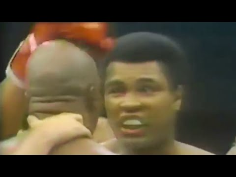 Muhammad Ali gets brain damage from Earnie Shavers (knocked out cold nearly)