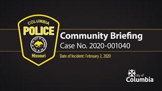 CPD Preliminary Community Briefing re Case No. 2020-001040