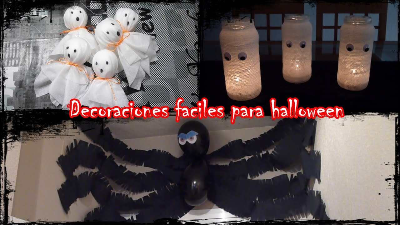 DIY - DECORACIONES FACILES PARA HALLOWEEN - YouTube