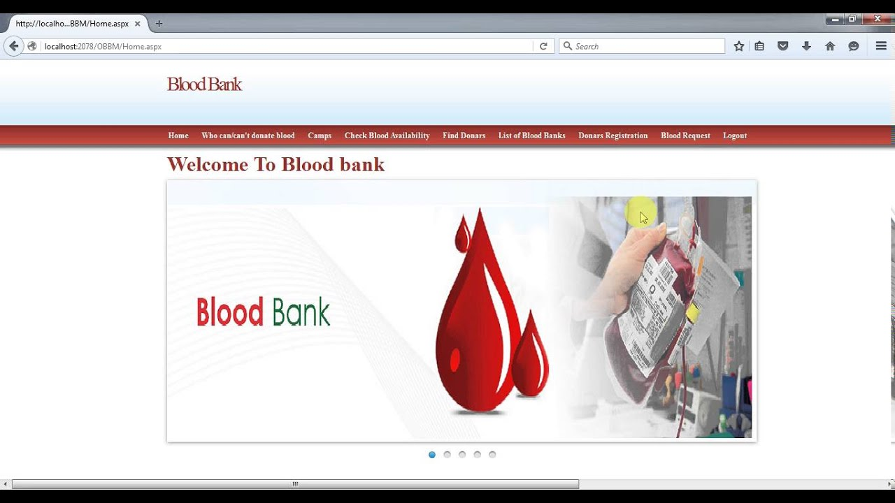 Online Blood Bank Managment System In Asp Net Youtube