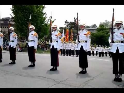 Republic Of Korea Marine Rifle Drill
