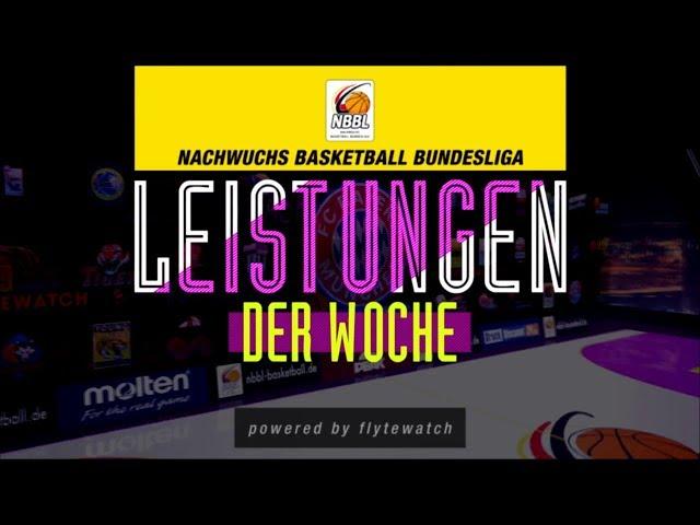 NBBL - Leistungen der Woche - Spieltag 1