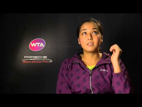 Interview Zarina Diyas (KAZ) - Porsche Tennis Grand Prix 2015
