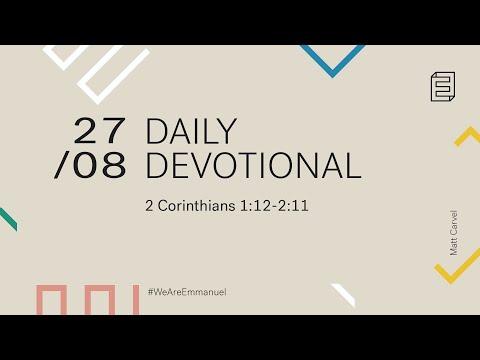 Daily Devotional with Matt Carvel // 2 Corinthians 1:12-2:11 Cover Image