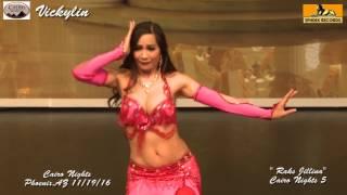 Belly Dancer Vickylin Malika dancing to ' Raks Jillina' at Cairo Nights Phoenix Nov 19th 2016