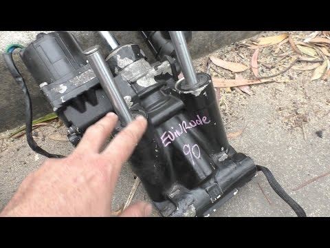 Replacing an Evinrude trim tilt unit