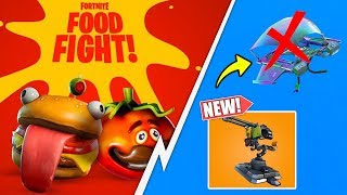 *NEW* Fortnite Food Fight LTM, Mounted Turret, Glider Re-Deployment Changes!